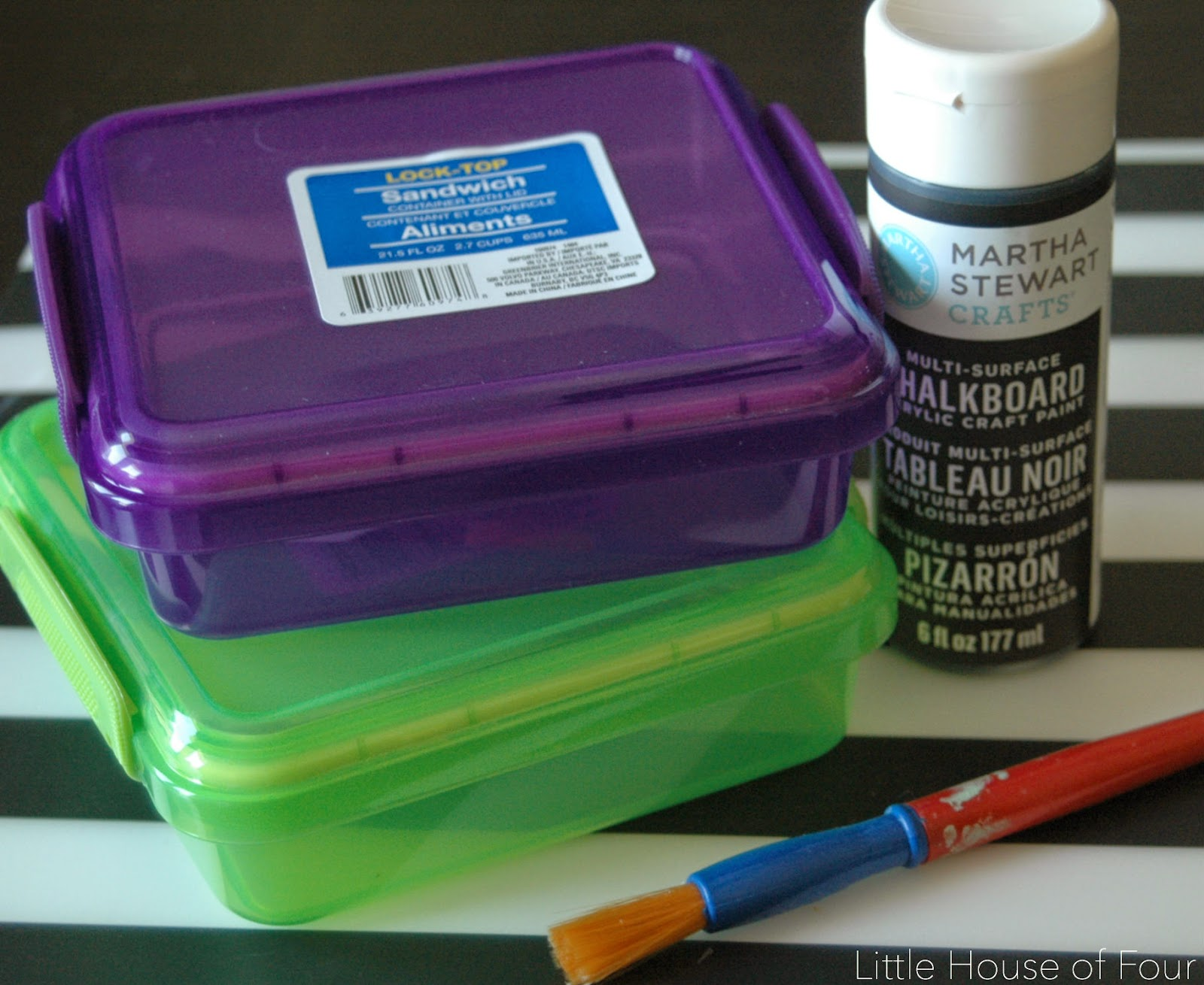 Back to School Chalkboard Lunch Containers Little House of Four