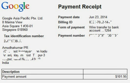 My First Google Payment