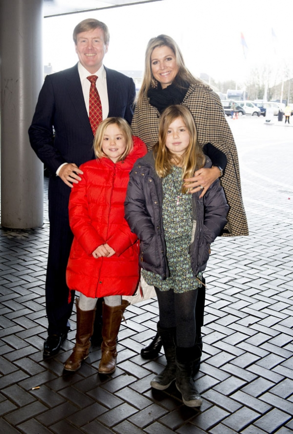 King Willem-Alexander of The Netherlands, Queen Maxima of The Netherlands and Princess Alexia of The Netherlands, Princess Ariane of The Netherlands