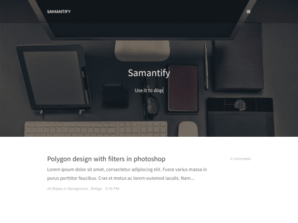 SAMANTIFY RESPONSIVE BLOGGER TEMPLATE