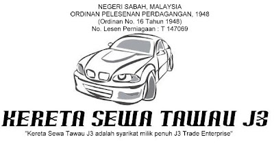 Trading Licence for Tawau Car Rental company