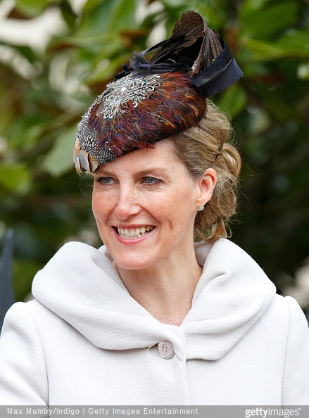 Sophie, Countess of Wessex attends the Easter Matins service at St George's Chapel, Windsor Castle