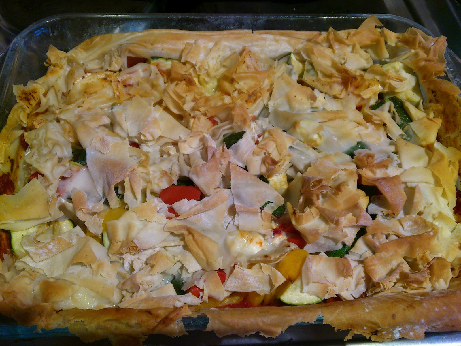 ... Scrummy Food For Families: Roast Vegetable and Goats Cheese Filo Tart