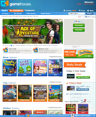 Big Fish Games http://www.bigfishgames.com/online-games/index.html