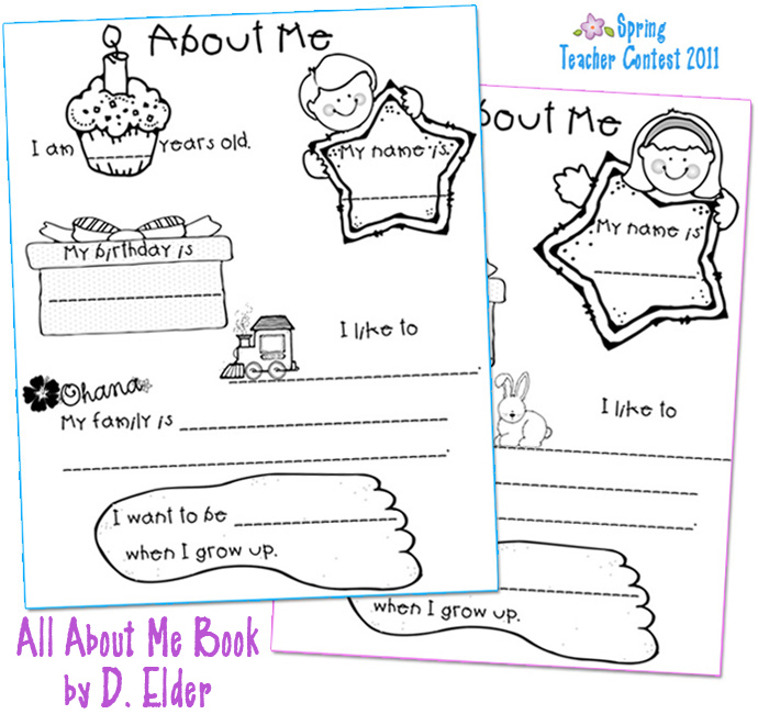 Craft: An All About Me booklet. Our booklet noted name, age, hair and ...
