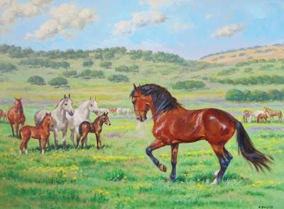paisajes-al-oleo-caballos-al-oleo