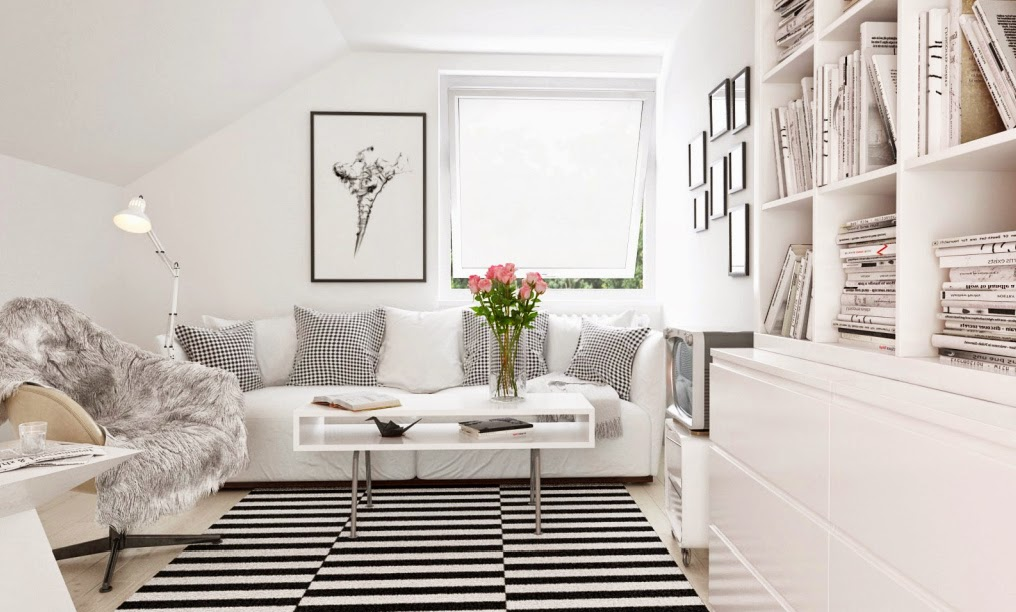 30 inspirations d co pour votre salon blog d co mydecolab - Deco salon noir blanc ...