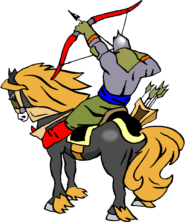Archer Ride A Horse Free Clipart