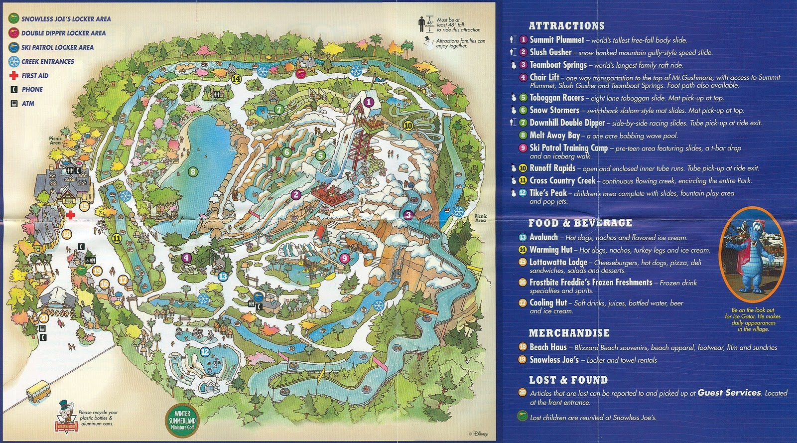 Disney Vacation Kingdom Blizzard Beach Guidemap