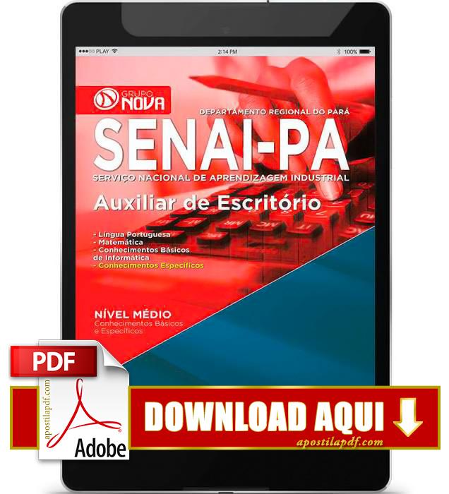 Apostila SENAI PA 2015 Auxiliar de Escritório PDF Download