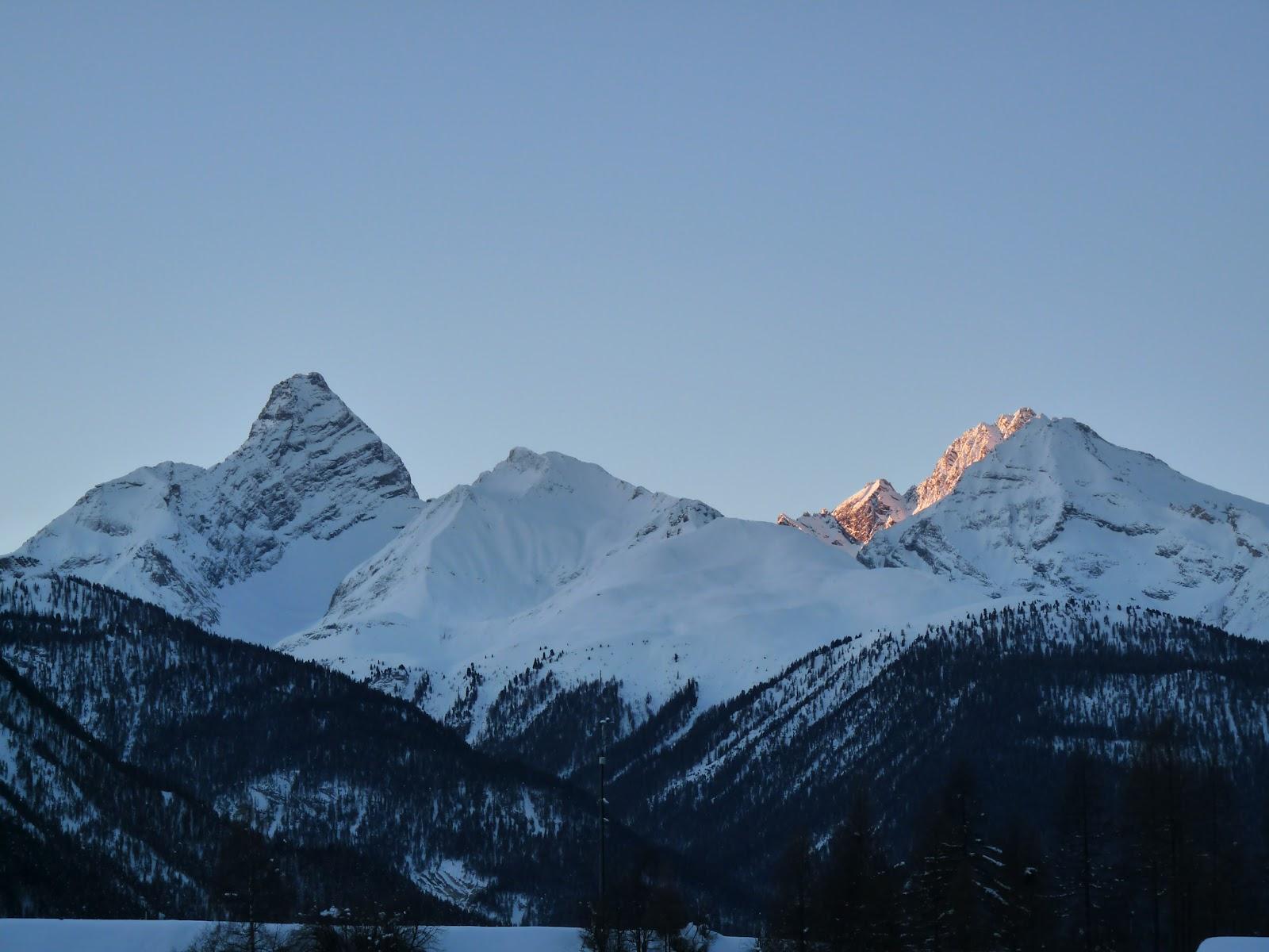 christmas mountain village at christmas