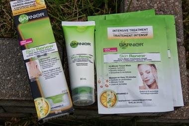 Garnier Dark Spot Treatment Mask & Hand Cream