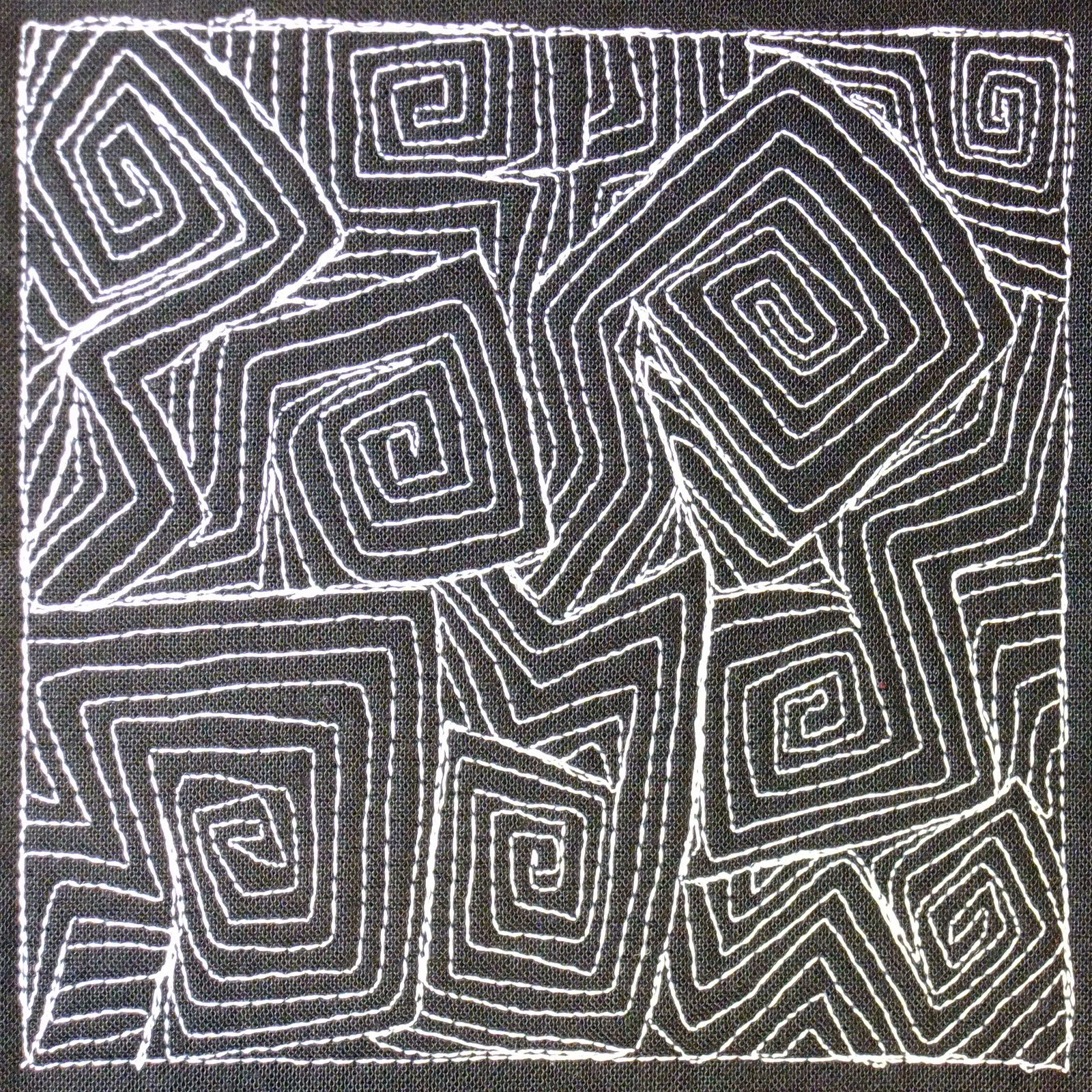 The Free Motion Quilting Project: Day 297 - Sharp Swirling ...