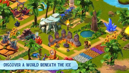 تحميل لعبة المغامرة المميزة للأندرويد وiOS وويندوز فون مجاناً Ice Age Villag APK-iOS-xap