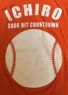 Click image to purchase Ichiro 3,000 t-shirt.