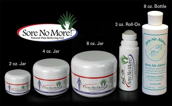 Amostra Gratis Gel natural para dores Sore no More