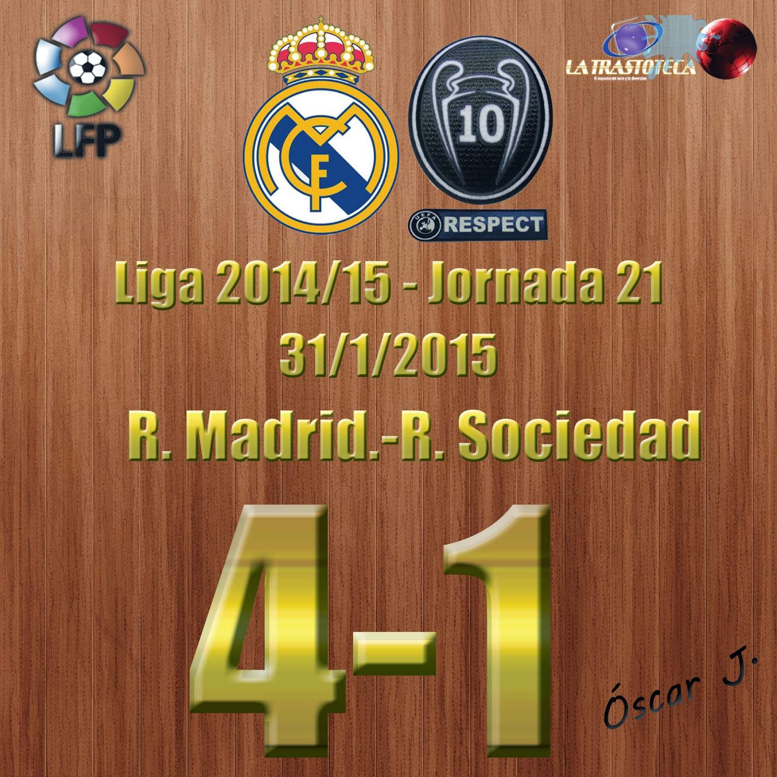 Real Madrid 4-1 Real Sociedad - Liga 2014/15 - Jornada 21 - (31/1/2015)