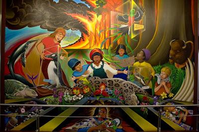 custom wall mural - painting murals - symbolism airport mural