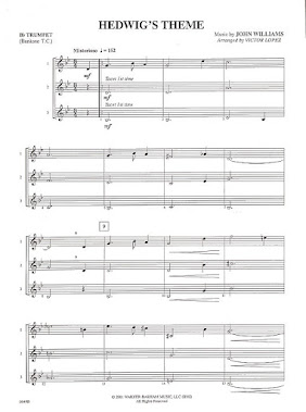 Partitura Hedwig's Theme