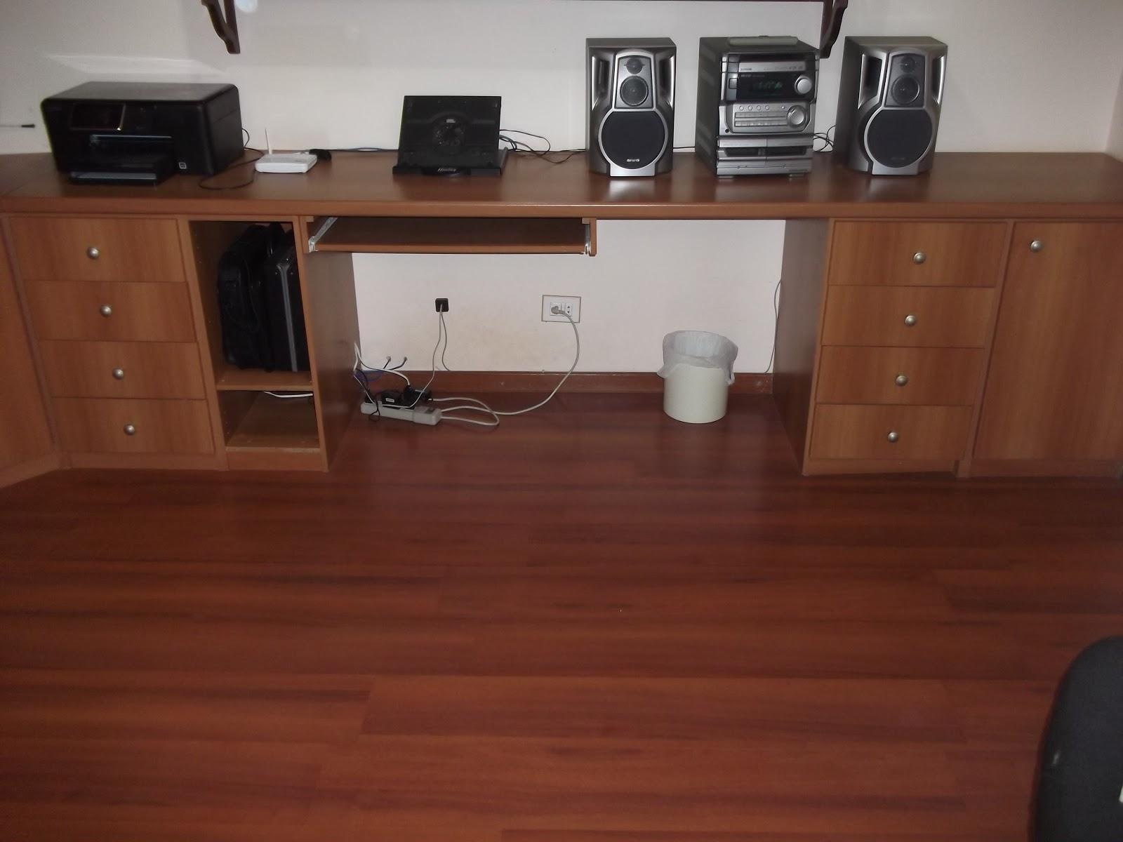 Garage Sale da Lu: Móvel para escritório (Bancada em L 165cm x  #663626 1600x1200