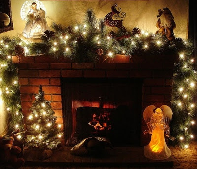 chimenas navideñas