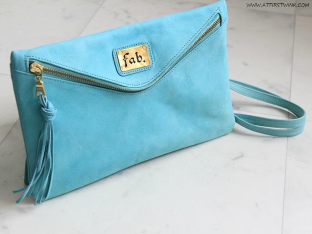My Summer 2013 bag: Fab. Beatrix clutch - aqua