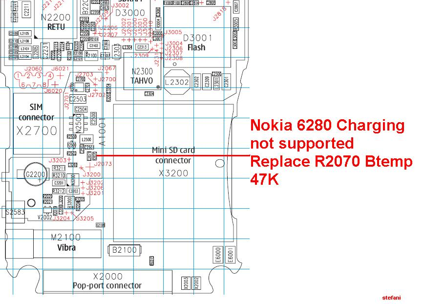 Nokia 6280 Charging not supported