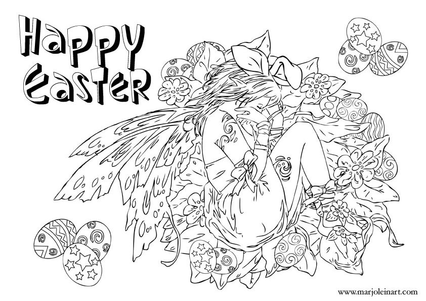 Free Fairy Coloring Pages By Marjolein Gulinski And More