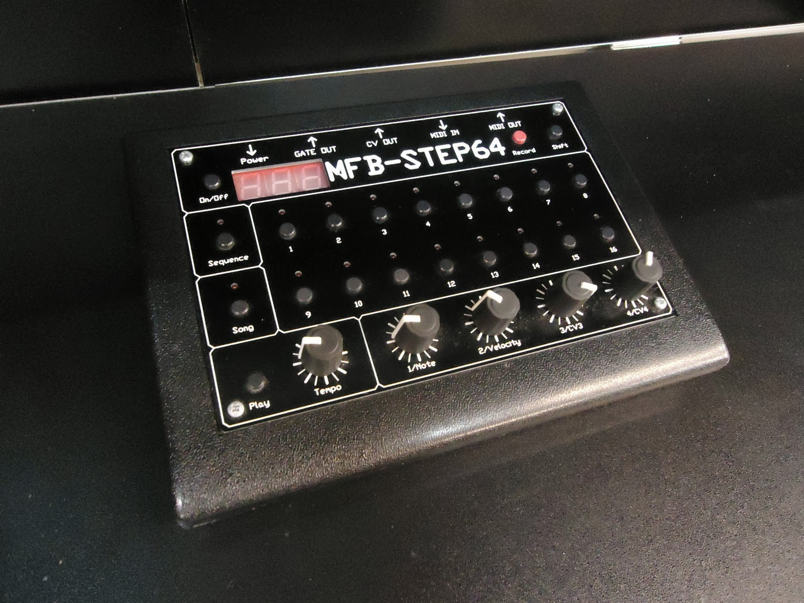 matrixsynth  mfb step 64 midi cv gate step sequencer