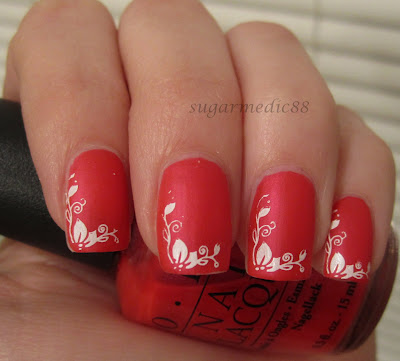 OPI All Rose Lead to Rome Swatch Konad