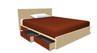 Trimble 3D Warehouse - Queen Bed with 6 storage units