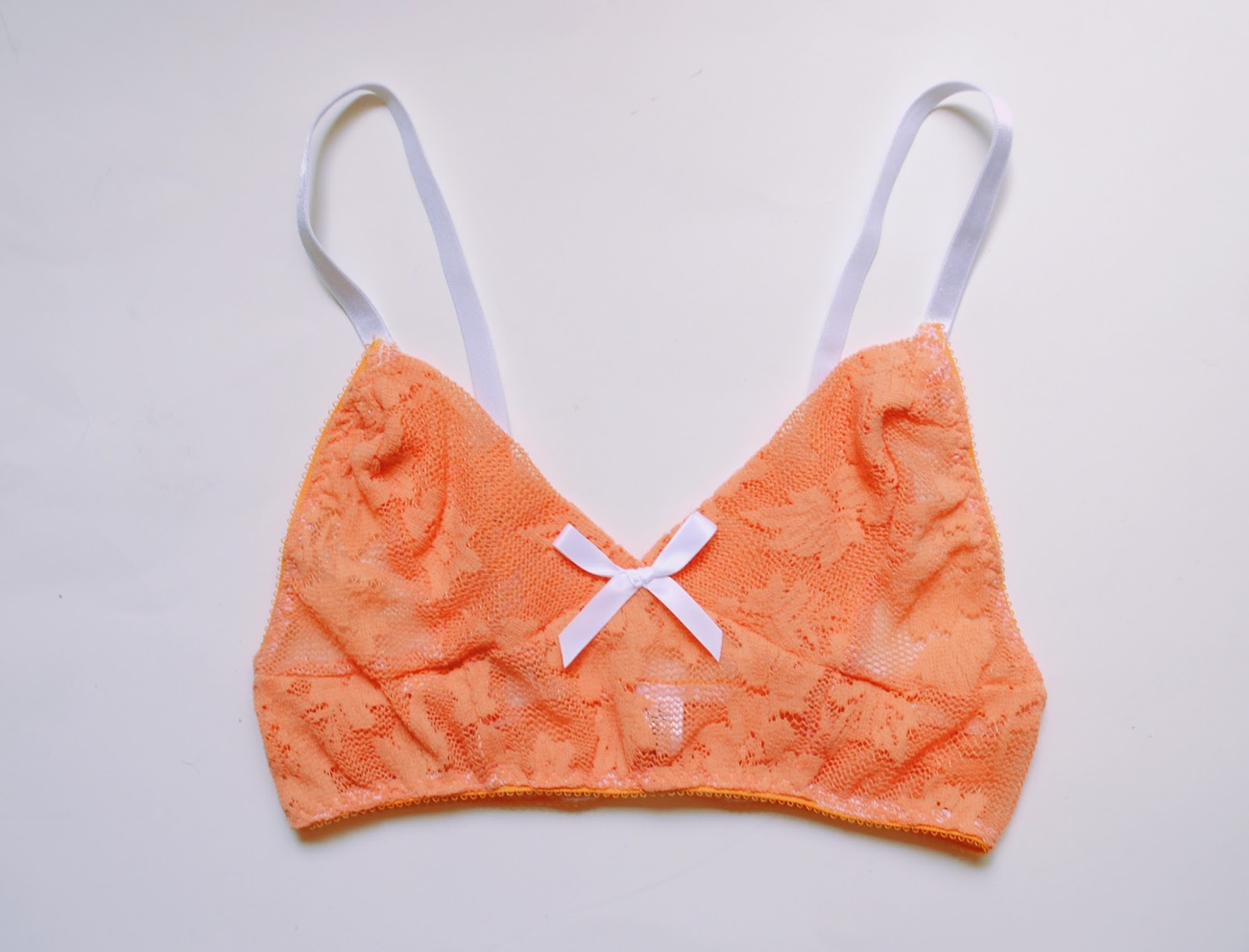 Secret Garden Orange Lace Bralet