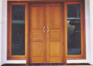 pintu minimalis kupu tarung