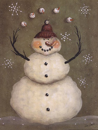 Snow Handmade Natural Painting Christmas Cards