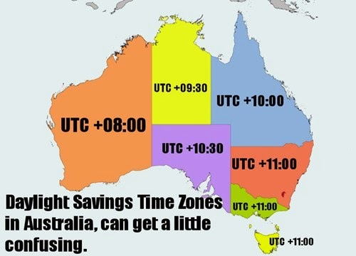Daylight savings dates in Australia