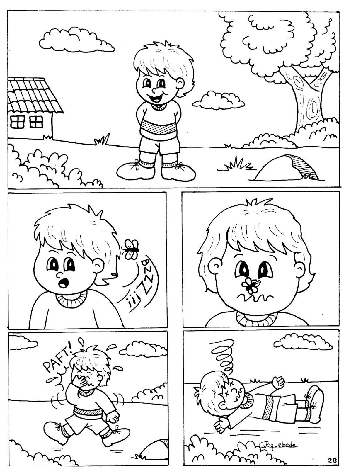Amado Educação.com - Professores online.: Desenhos para produção de texto. KL19