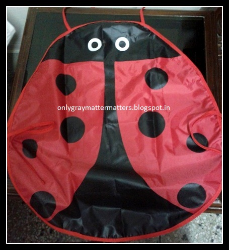 Kids Ladybug Apron Pinafore