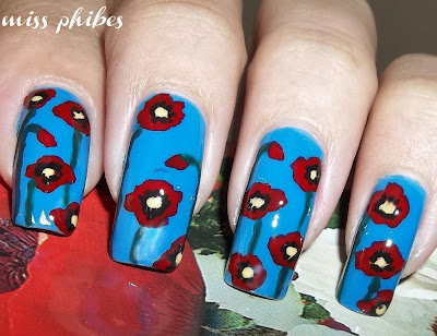 Vintage Flowers nail art