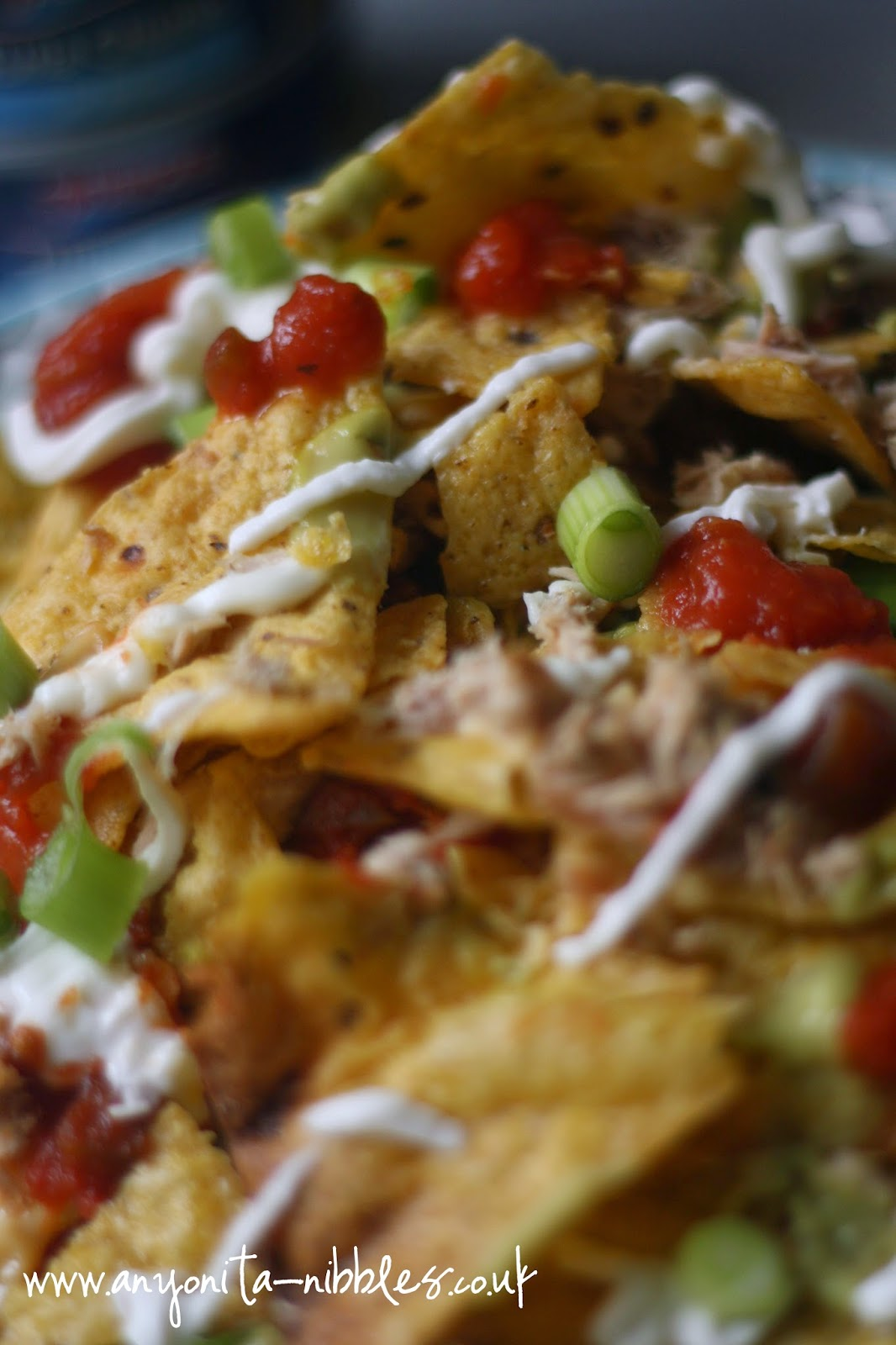 Detail of tuna nacho salad from Anyonita-nibbles.co.uk