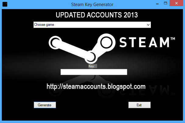 steam code generator cheat