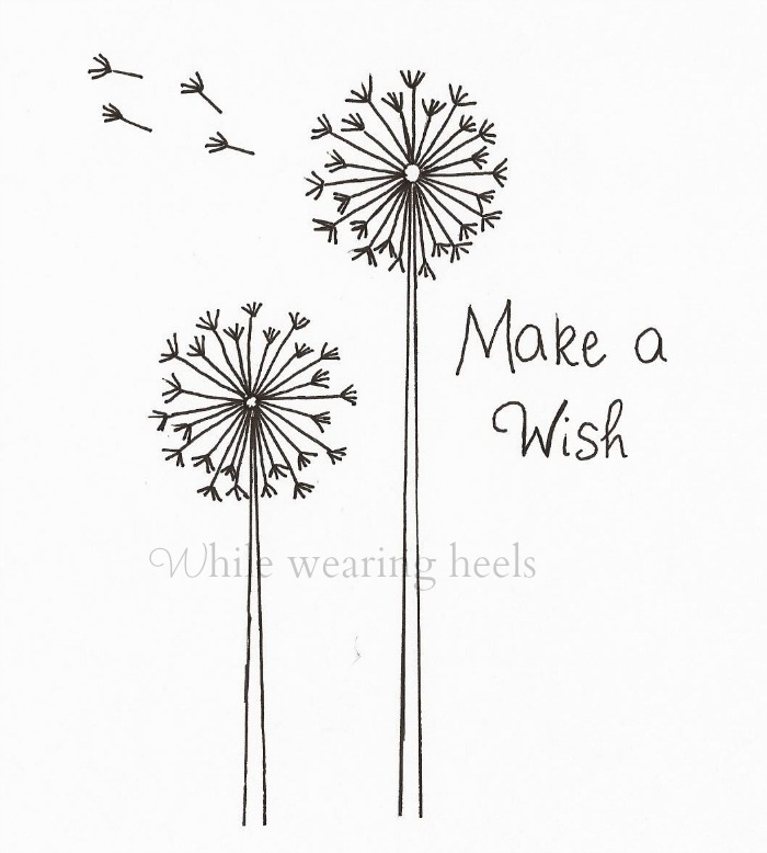 Make a wish dandelion embroidery pattern