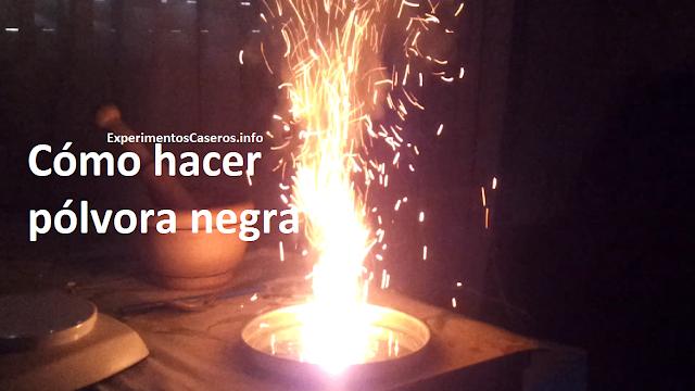 Cómo hacer pólvora negra. nitrato de potasio, experimentos caseros