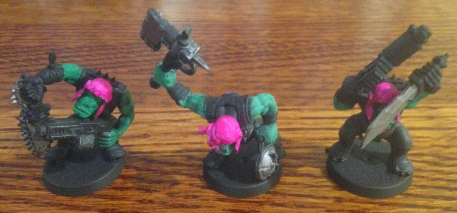 Warhammer 40K orkys pink orks reversed arms