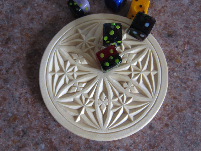 Ales the woodcarver chip carved coaster