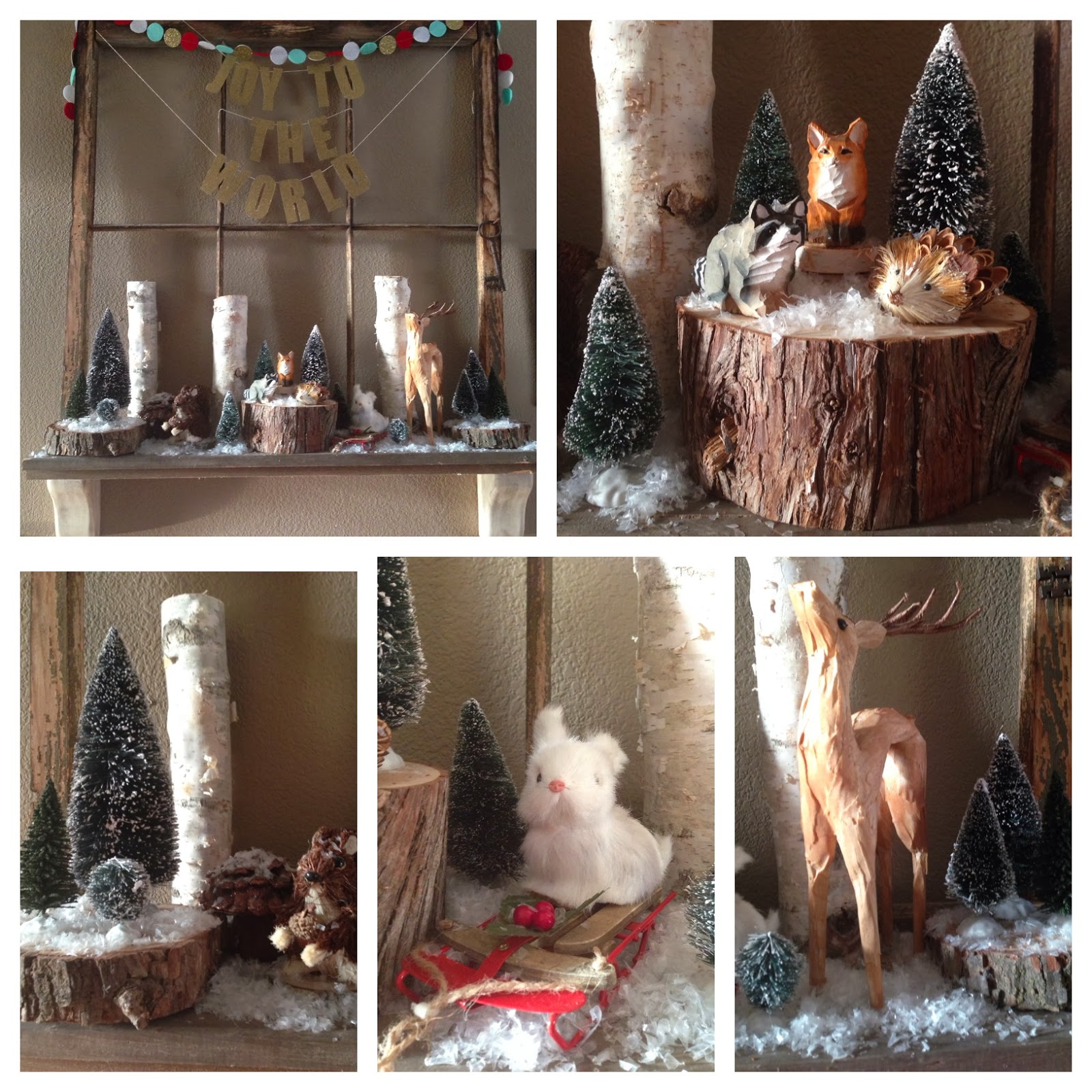 Bottle brush woodland animals - I Used Mixed Sizes Of Bottle Brush Trees And Snow To Add To The Scene