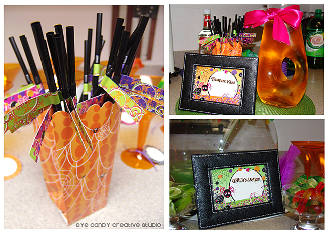 halloween straws, halloween cocktails, witch's potion, halloween party
