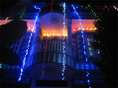 Well-decorated House in Diwali