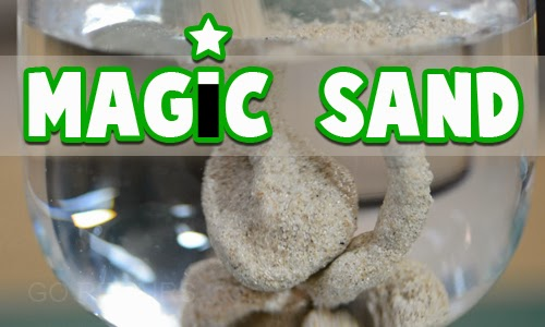 Make your own magic sand