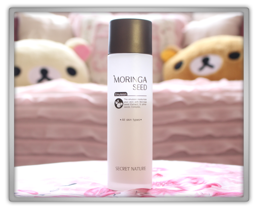 Secret Nature Moringa Seed emulsion products Haul Review preview honest pink korean cosmetics skincare asian rilakkuma flowers memebox jolse