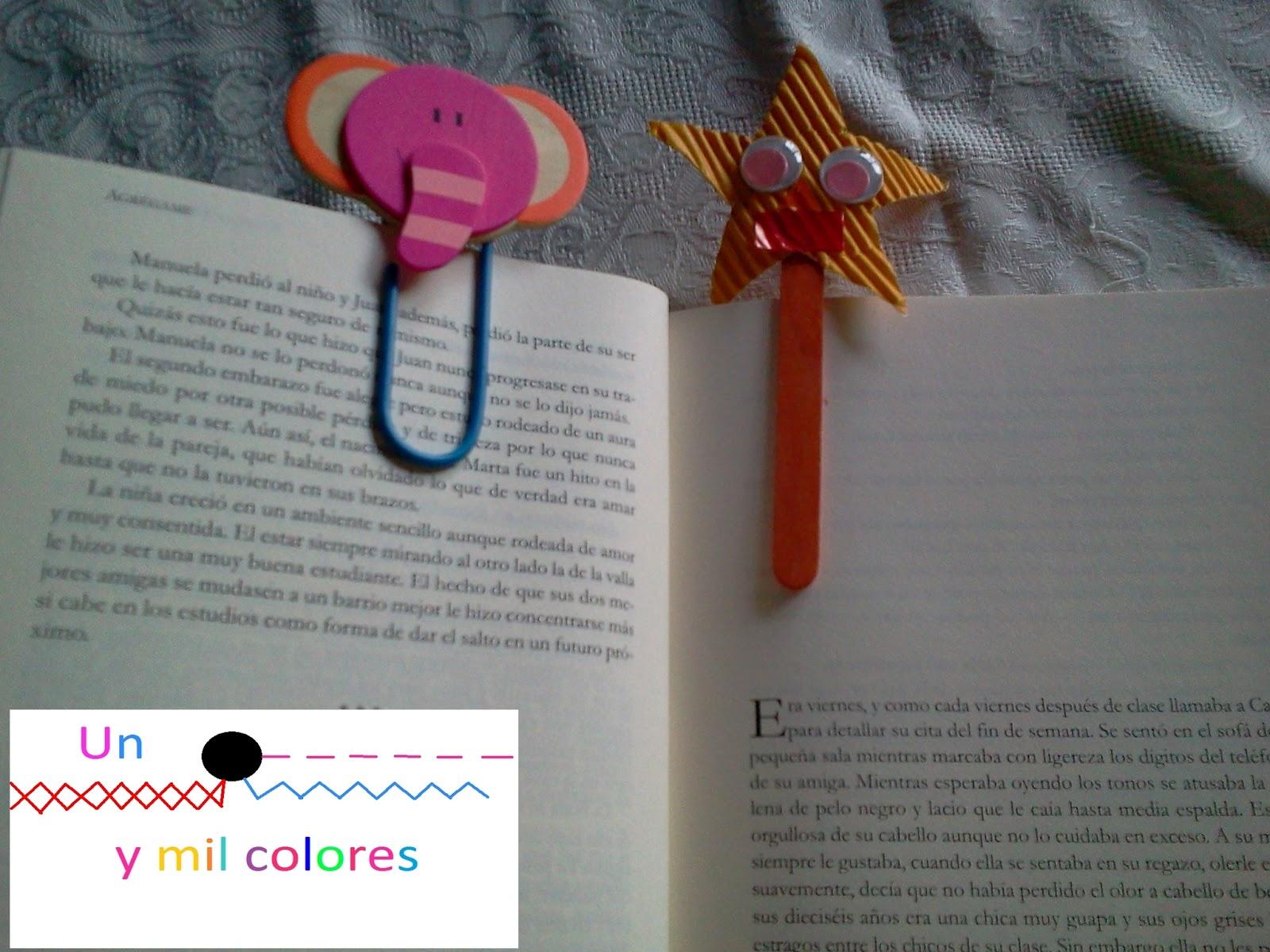 un punto, mil colores: SEPARADORES HOJA DE LIBROS